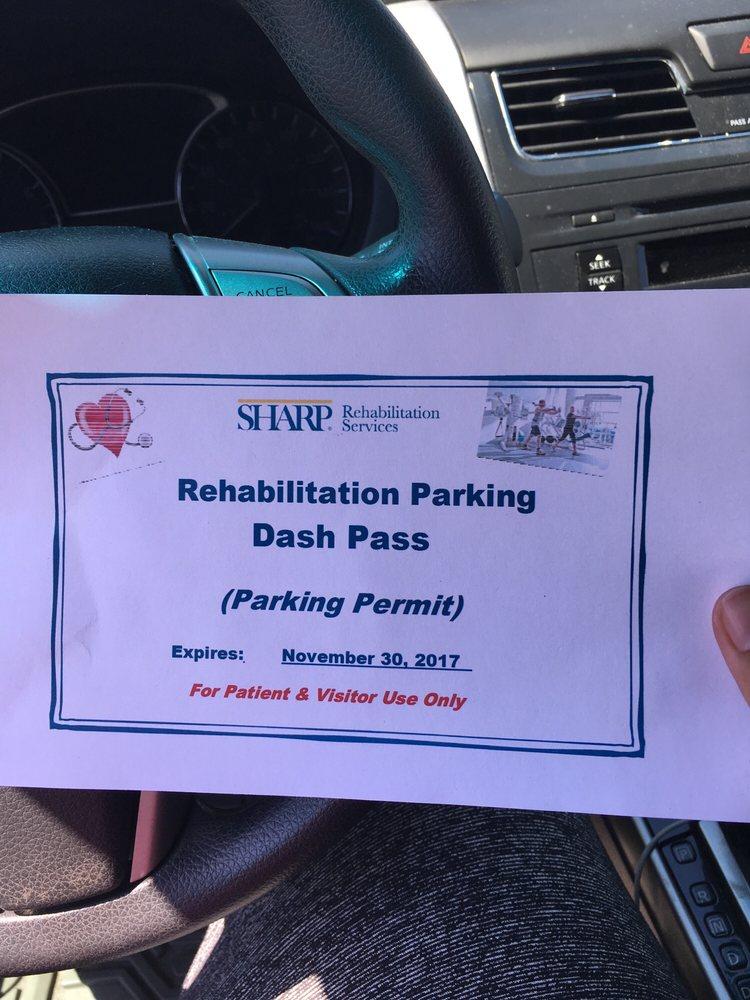 Sharp Memorial Rehabilitation Center: 2999 Health Center Dr, San Diego, CA