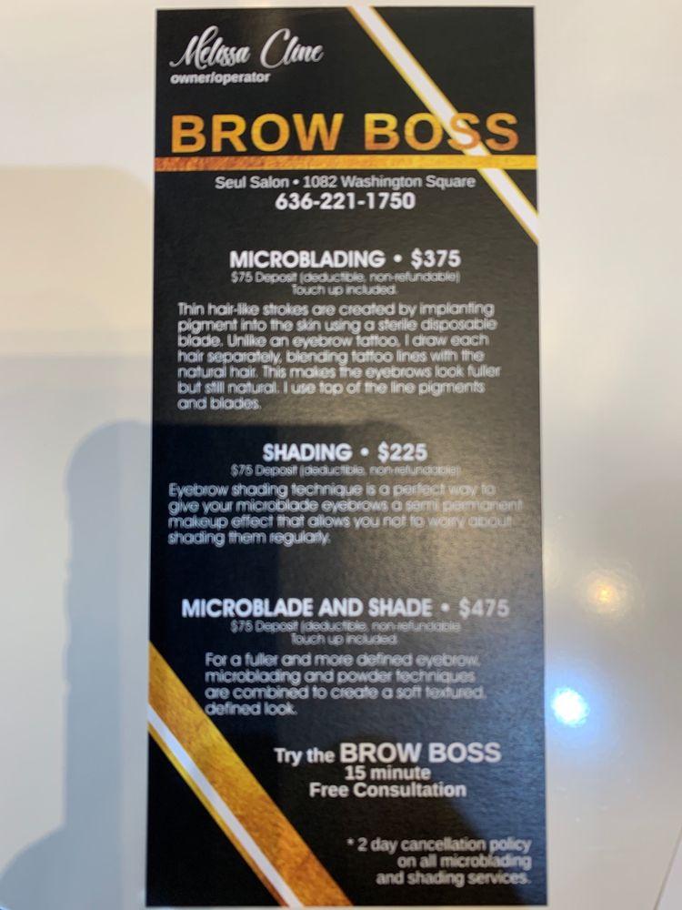 Brow Boss: 1082 Washington Square Ctr, Washington, MO