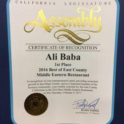 Photo Of Ali Baba Restaurant El Cajon Ca United States