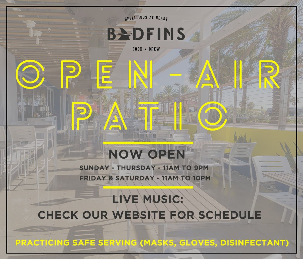 Badfins Food + Brew: 215 S Gulfview Blvd, Clearwater, FL