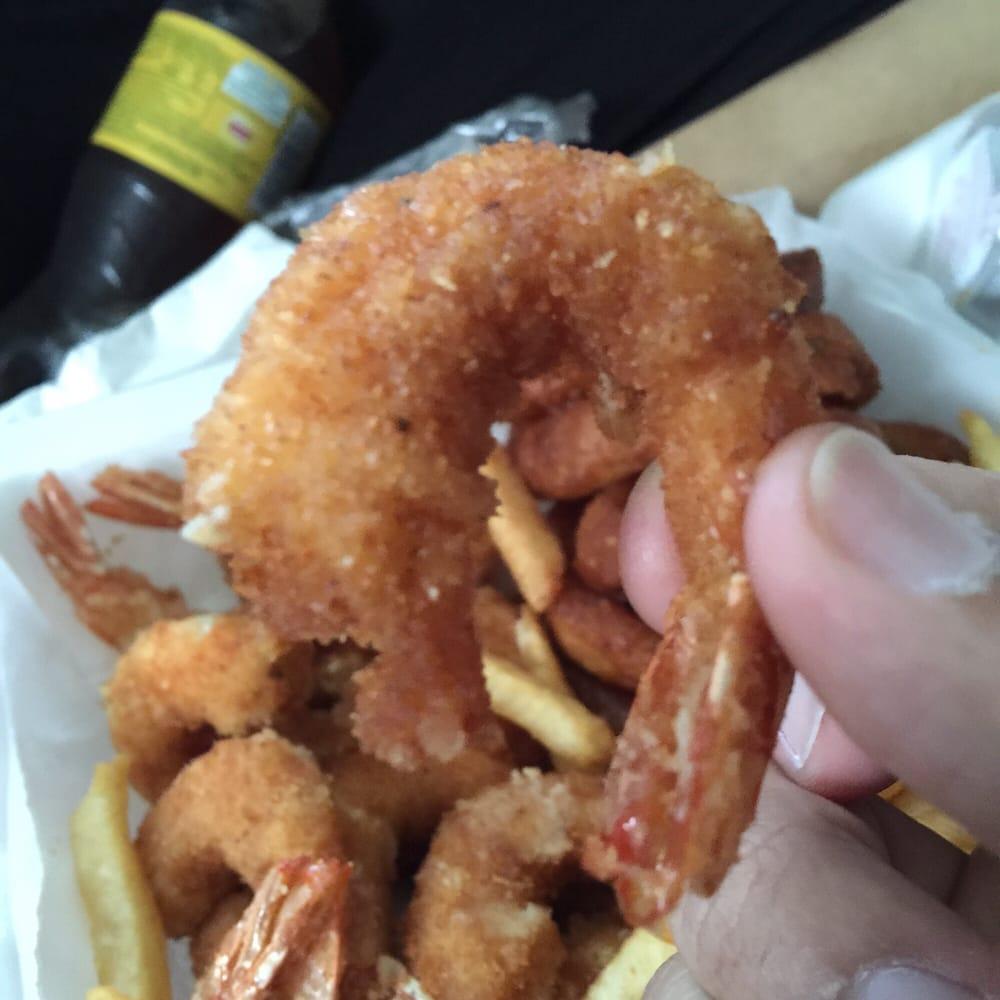 Medium shrimp more like large yelp for Bob s fish market