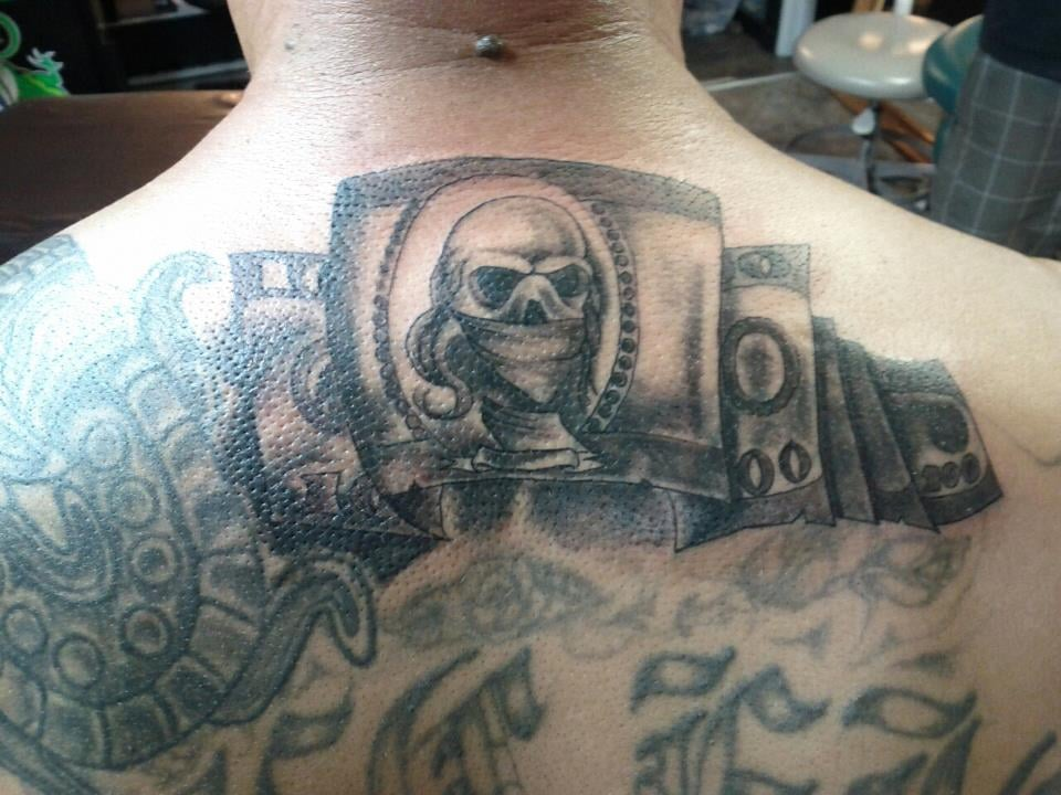 Money tattoo sacramento tattoo done at stylz tattoos for Sacramento tattoo and piercing