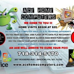 Ace Home Computers - CLOSED - Data Recovery - 357 Rogers Ave