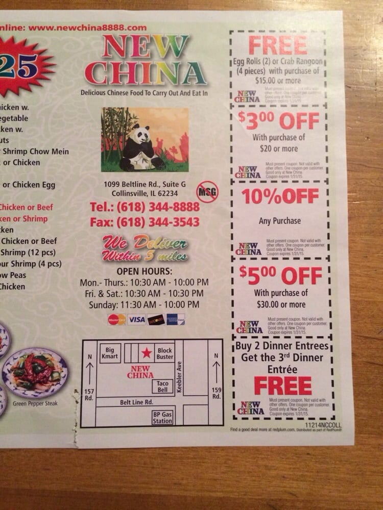 New China Chinese 1099 Belt Line Rd Unit G