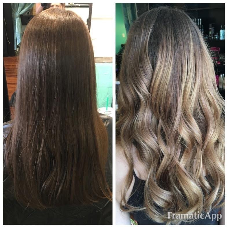Lightening Color And Redken Heat Cure Treatment Before And After Yelp