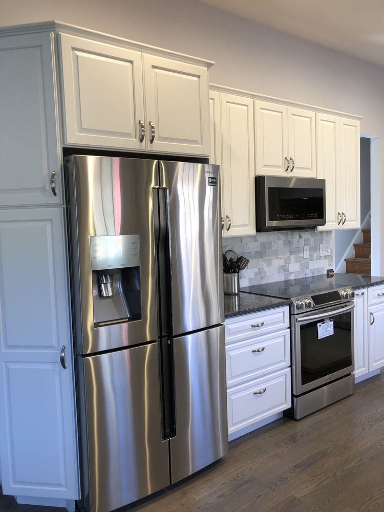 Classic cabinets with blue pearl GT granite and marble ...