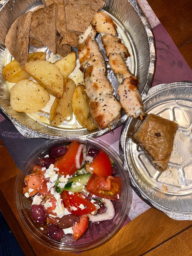 Food from Dimitris Gyro Grill