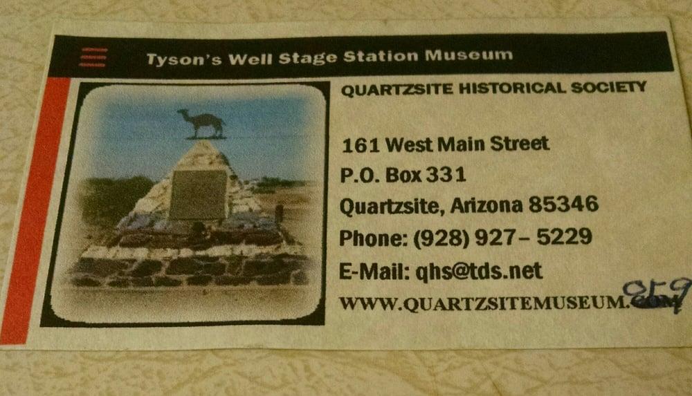 Quartzsite Historical Society: 161 W Main St, Quartzsite, AZ
