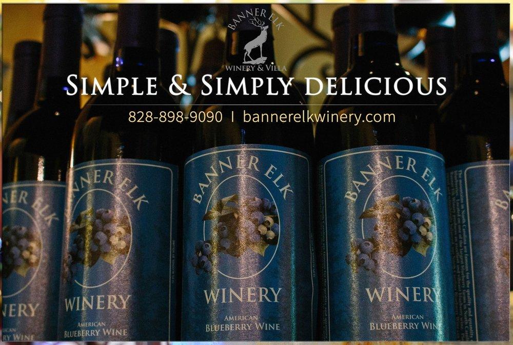 Food from Banner Elk Winery & Villa