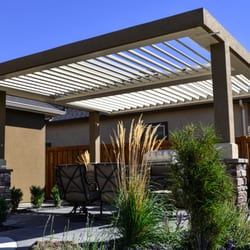 Photo Of ShadeWorks   Boise, ID, United States. Freestanding Louvered Patio  Cover