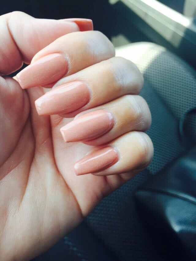 Nude color powder Almond shape By Lisa. - Yelp