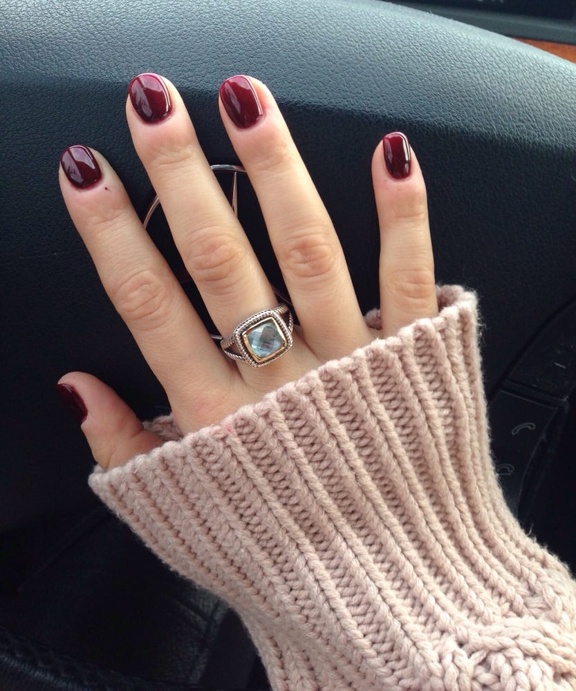 Bordeaux - perfect shade for autumn and the \