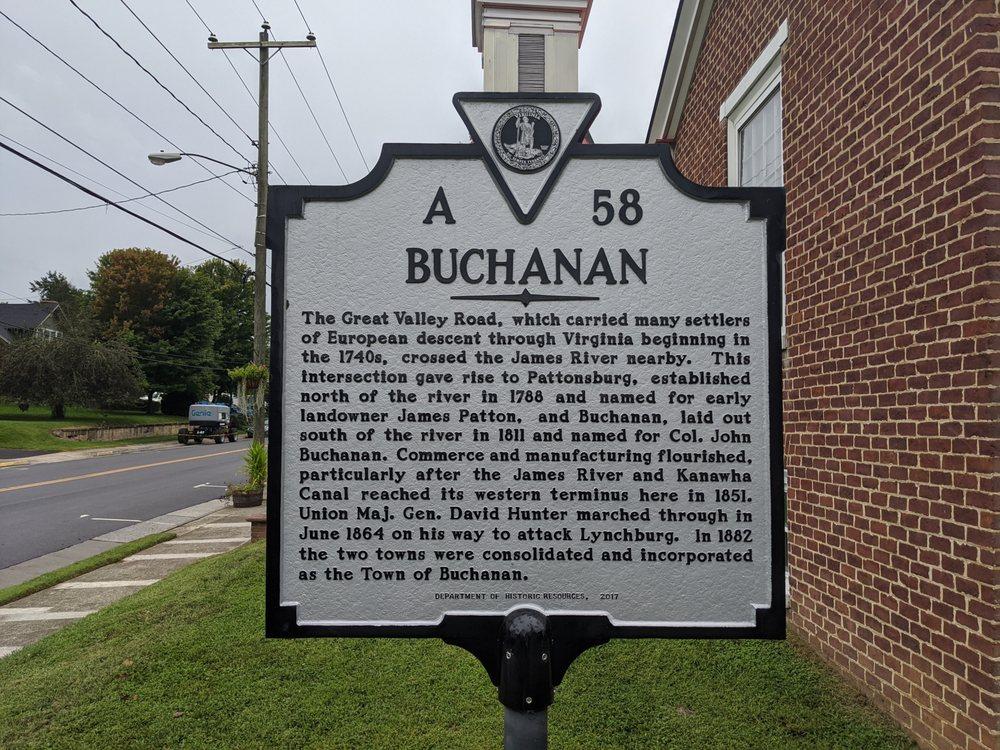 Buchanan Historical Marker: 19625 Main St, Buchanan, VA