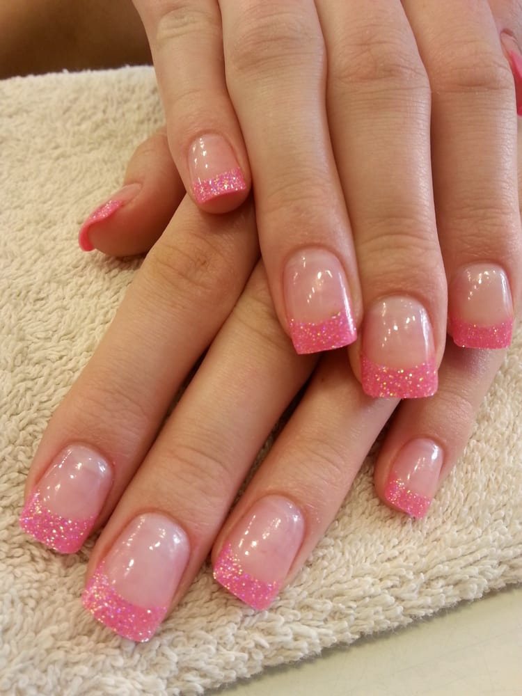 Barbie Nails! Fancy pink glitter tips & Orly \