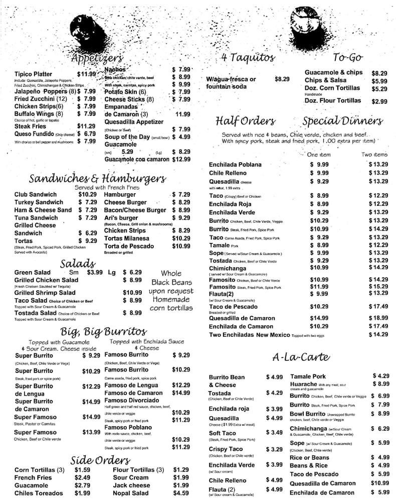 Menu with prices as of nov 10 2015 yelp for Menu cinese tipico
