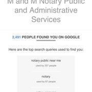 M&M Notary Signing Public and Administrative Services - Notaries