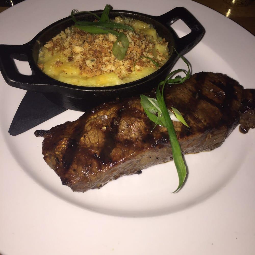 Steak With Cheesy Potatoes.