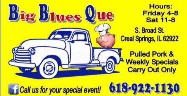 Big Blues Que: 404 S Broad St, Creal Springs, IL
