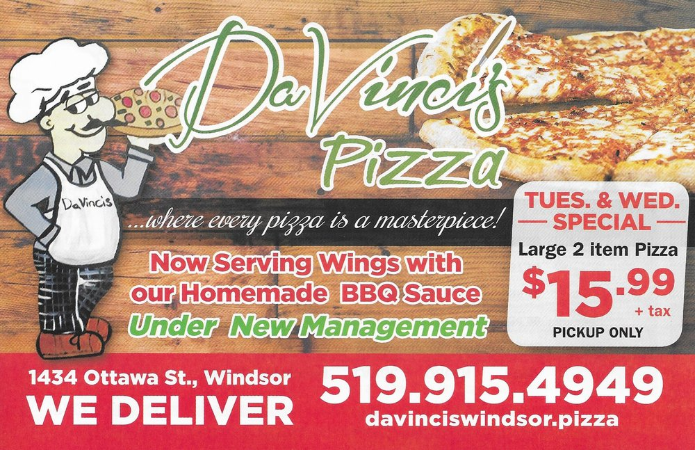 DaVinci's Pizza: 1434 Ottawa Street, Windsor, ON