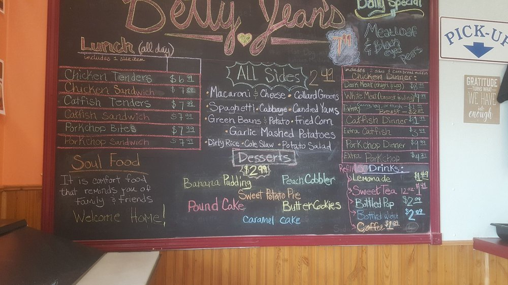 Betty S Soul Food Menu