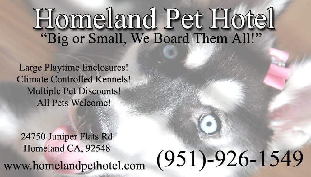 Homeland Pet Hotel: 24750 Juniper Flats Rd, Homeland, CA