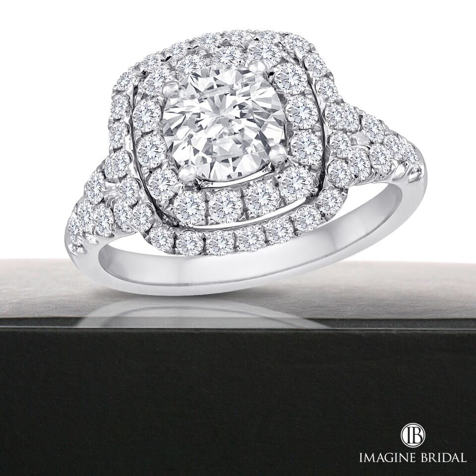 Beautiful halo engagement ring selections from luxor fine for Luxor fine jewelry atlanta ga