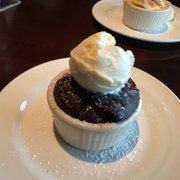 mini chocolate souffle cake yard house