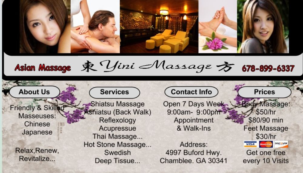 Yini Massage - 24 Photos & 49 Reviews - Massage - 4997 Buford Hwy,  Chamblee, GA - Phone Number - Yelp