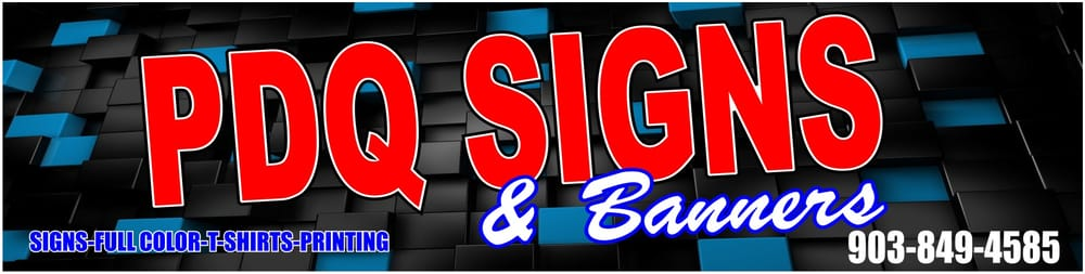 PDQ Signs: 204 N Broad St, Chandler, TX