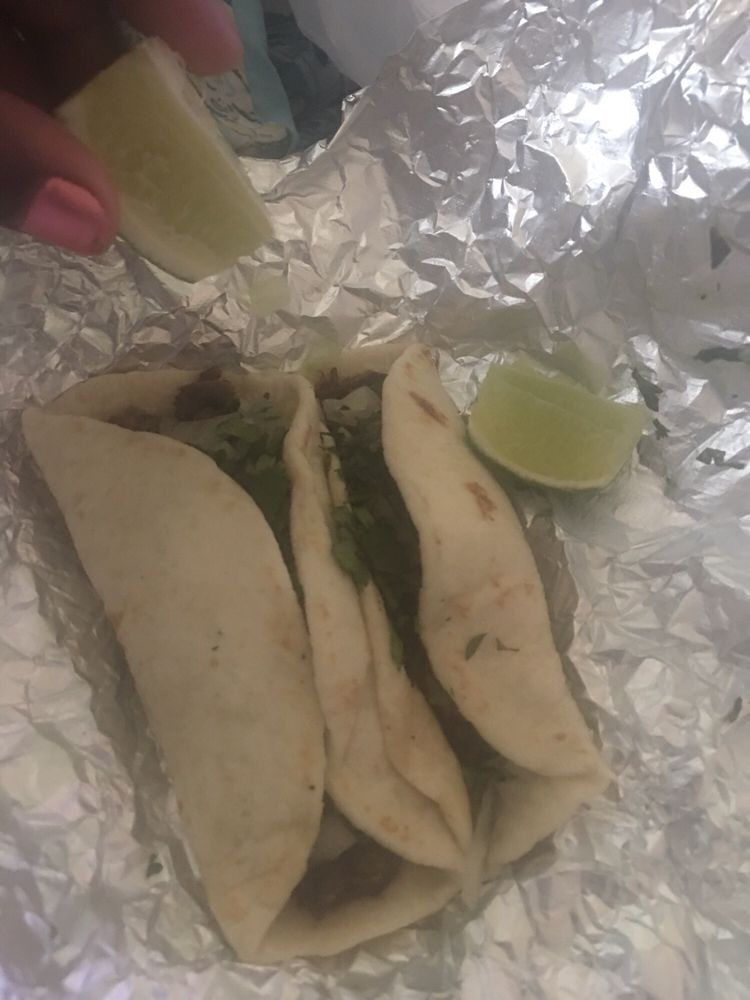 Food from Ruby's Taco Truck