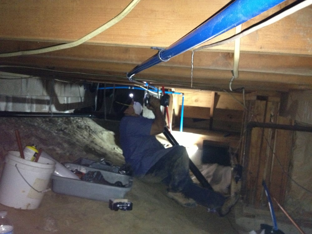 Crawl space pex water lines re pipe yelp for Crawl space plumbing