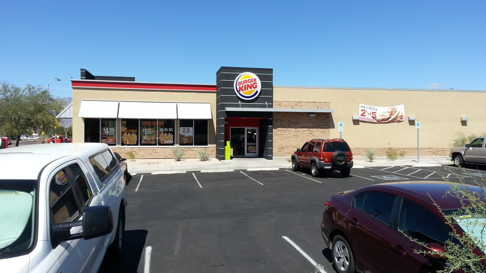 Only Burger King I will go to in the city of Tucson. Staff is friendly, the cleanliness of the lobby is phenomenal and the drive thru is fast! I always receive quality customer service and food no matter what time I decide to go to this establishment.3/5(9).