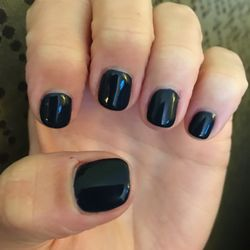 Photo Of Exotic Nails Bay Village Oh United States Manicure With Dark