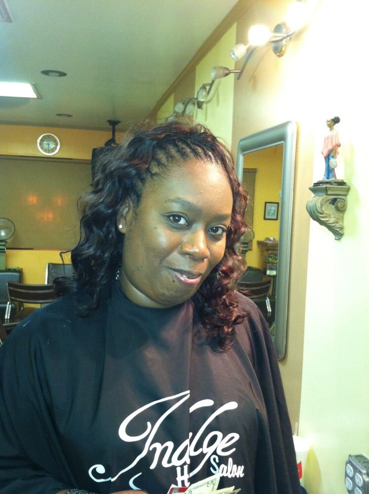 Braids In The Front And Sew In Weave In The Back With Indian Hair Yelp