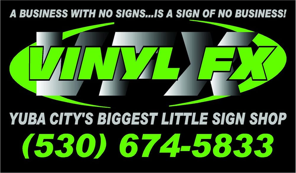 Vinyl fx printing services 1215 colusa ave yuba city ca phone number yelp