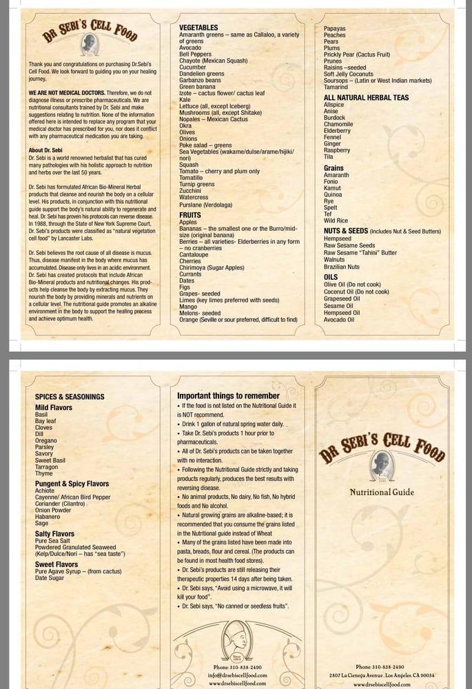Dr Sebi S Food List