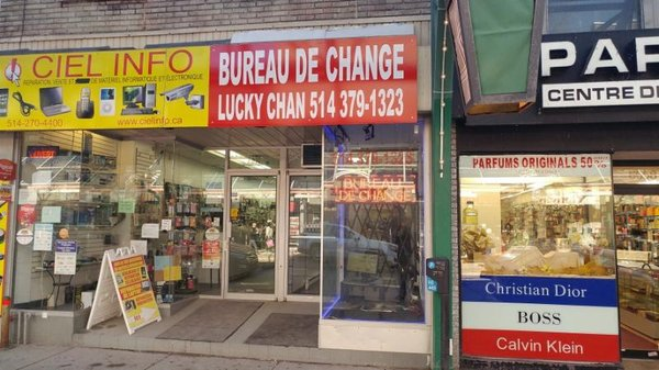 Bureau de Change Lucky Chan Currency Exchange 6652A Rue Saint