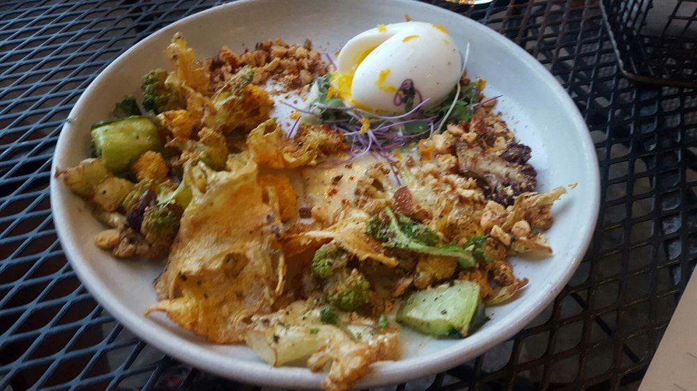 Crispy cauliflower app with soft boiled egg yelp for 707 foodbar grand junction