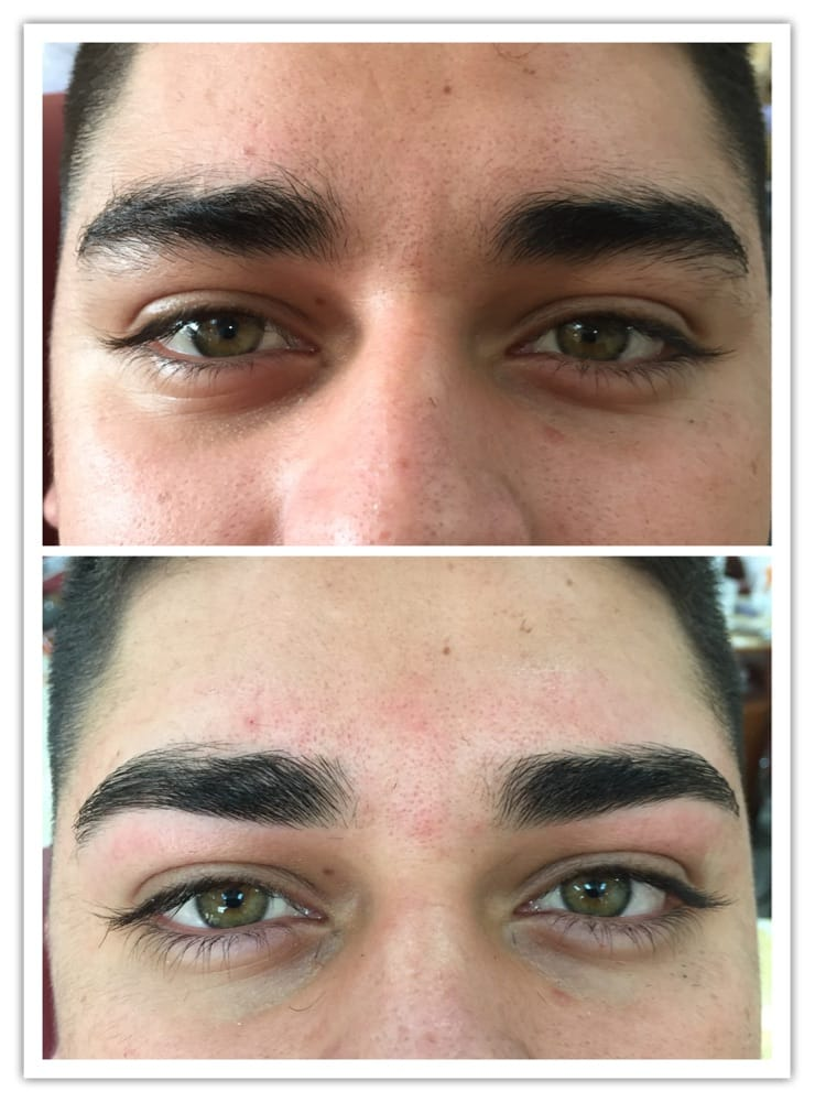 Man Eyebrows Wax Before After Yelp
