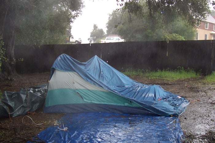 Photo of Malibu Creek State Park - Calabasas CA United States. C&site 42 & Campsite 42-Coleman Outsider Tent Collapses On My Birthday during ...
