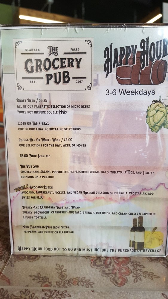 The Grocery Pub: 1201 Division St, Klamath Falls, OR