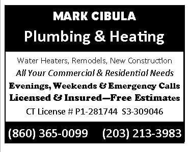 Mark Cibula Plumbing & Heating: 56 Mallard Cv, East Hampton, CT
