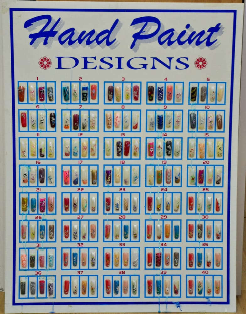 Hand-painted nail designs at Lovely Nails and Spa, Towson, MD - Yelp