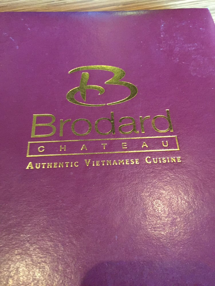 Brodard Chateau Restaurant Menu