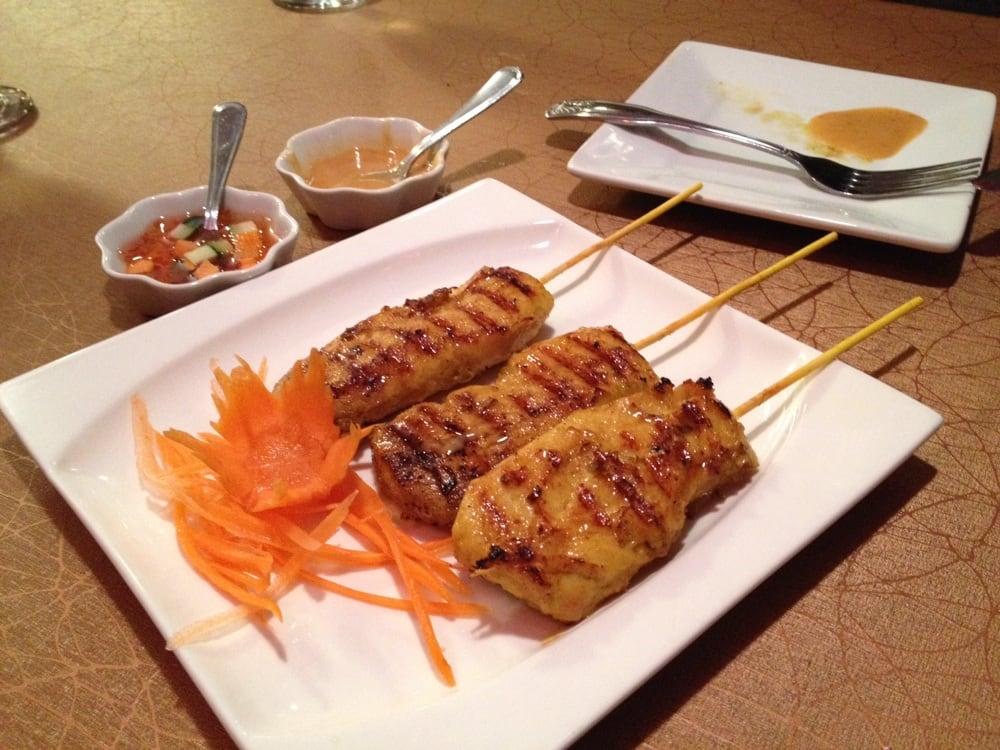 Super tender chicken satay yelp for Arlington thai cuisine