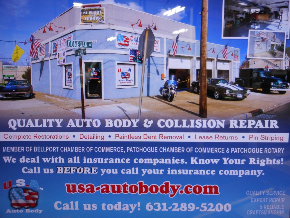 USA Auto Body: 1419 Montauk Hwy, East Patchogue, NY