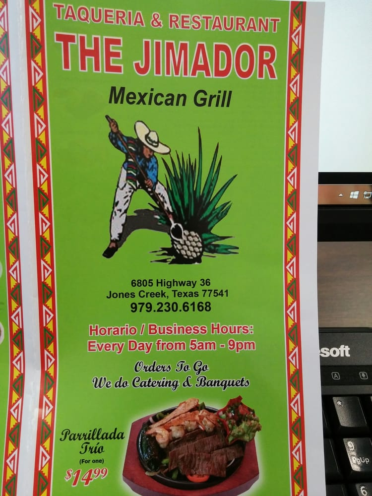 The Jimador Mexican Grill: 6805 Hwy 36, Jones Creek, TX