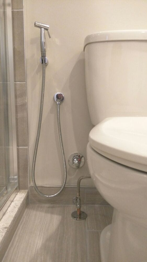 Shattaf Hand Held Toilet Bidet Spray With Hot And Cold Mixing Valve Mesmerizing Bathroom Burlington Ideas