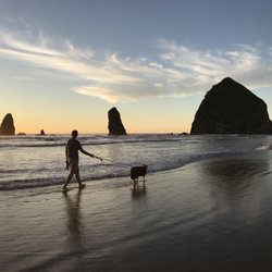Photo Of Haystack Rock Cannon Beach Or United States Sunset Here Is