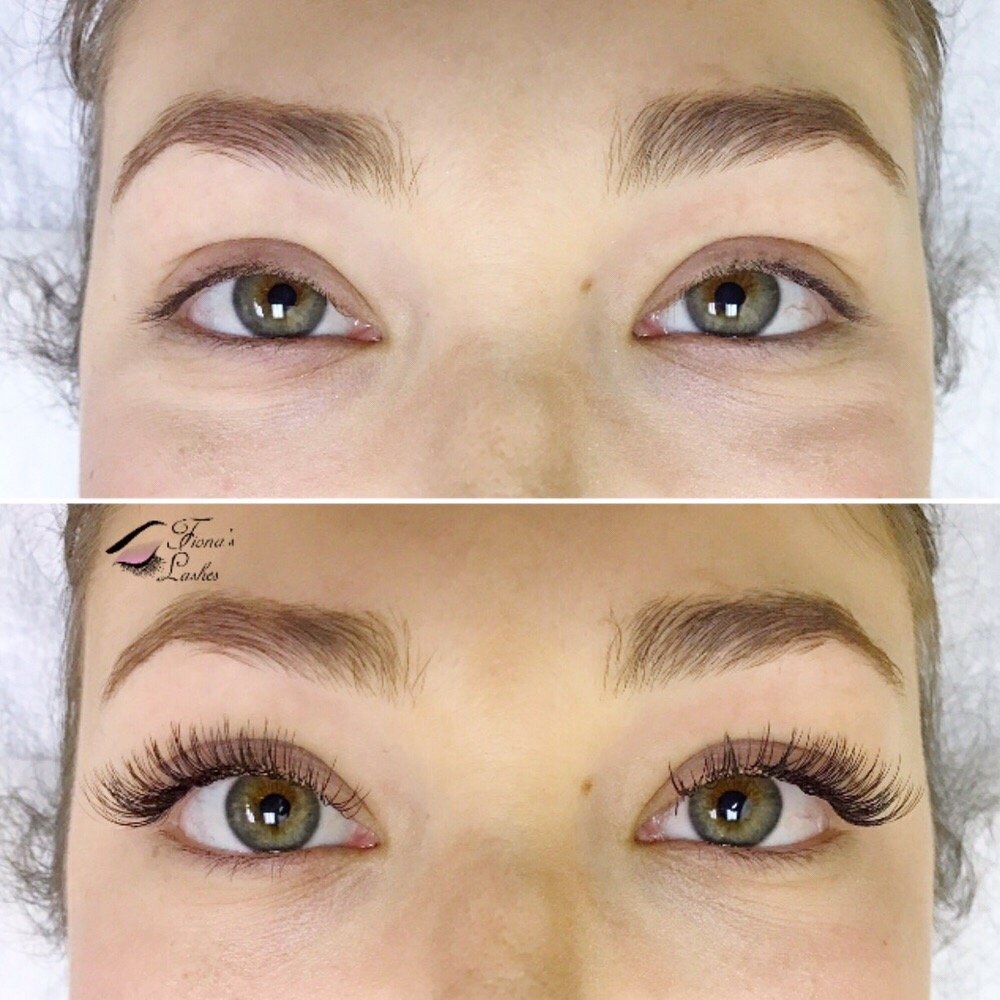 A beautiful before and after of classic lashes in c curl ...